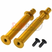 EAGLE RACING, 3818-GO ADJUSTABLE BODY MOUNT 37-44MM 2PCS GOLD