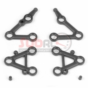 XRAY, 382101 SET OF SUSPENSION ARMS LOWER + UPPER