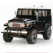 TAMIYA, 58564 CC-01 TOYOTA LAND CRUISER 40 BLACK SPECIAL PAINTED BODY WITH ESC