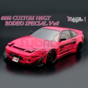 ABC HOBBY, 66166 1/10 180GT RODEO SPECIAL VER 2 6666 CUSTOM CLEAR BODY SET 180SX W/ ADDICTION ROCKET BUNNY AERO KIT SET