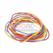 PN RACING, 700257 20AWD SILICON WIRE (RED/YELLOW/BLUE) @1 METER