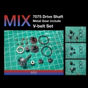 DRIFT ART, 7075 MIX DRIVE SHAFT, METAL GEAR, VBELT SET