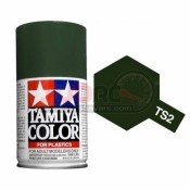 TAMIYA, 85002 TS2 DARK GREEN 100ML SPRAY
