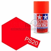 TAMIYA, 86020 PS20 FLUORESCENT RED 100ML SPRAY