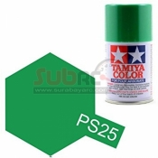 TAMIYA, 86025 PS25 BRIGHT GREEN 100ML SPRAY