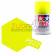 TAMIYA, 86027 PS27 FLUORESCENT YELLOW 100ML SPRAY