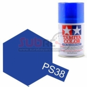 TAMIYA, 86038 PS38 TRANSLUCENT BLUE 100ML SPRAY