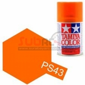 TAMIYA, 86043 PS43 TRANSLUCENT ORANGE 100ML SPRAY
