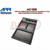 ARR, AC-139 ARR ALY 6061 MULTI FUNCTIONAL ACCESSORY TRAY WITH TOOLS STAND 3 GRIDS BLACK