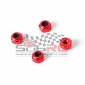 ATOMIC, AR-182-RO 2MM ALU HEX LOCK NUT PRO VER RED