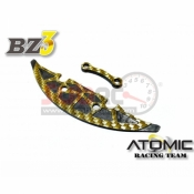 ATOMIC, AW-017 CARBON ENLARGE PLATE FOR PLASTIC BUMPER FOR AMZ-OP021