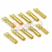 YEAH RACING, BC-0010 4MM HIGH CURRENT CONNECTOR SET BANANA PLUG MALE 10 PCS