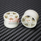 PN RACING, BL5002 MINI-Z BUGGY LASER STAR REAR WHEEL WHITE 2 PCS