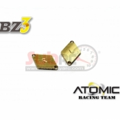 ATOMIC, BZ3-UP06P9 BZ3 BRASS 1.5 GR WEIGHT FOR ALU CHASSIS 1 PAIR