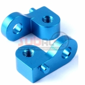 YEAH RACING, CC01-009BU ALUMINIUM REAR UPPER DAMPER MOUNT BLUE FOR TAMIYA CC01