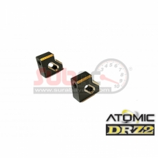 ATOMIC, DRZV2-UP01B DRZV2 BRASS SERVO MOUNT 1 PAIR 2.8 GR