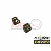 ATOMIC, DRZV2-UP01B DRZV2 BRASS SERVO MOUNT 1 PAIR 2.8 GR