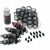 YEAH RACING, DSG-0055GM SHOCK GEAR 55MM DAMPER SET FOR 1/10 RC TOURING CAR