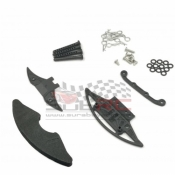 GLRACING, GLA-035 CARBON REINFORCED BUMPER W/ BODY POST SET