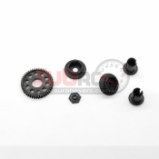 GL RACING, GLD-S-009 GLD BALL DIFFERENTIAL HOUSING SET W/ SPUR GEAR 45T