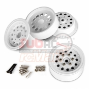 GMADE, GM70226 1,9 NR01 BEADLOCK WHEELS WHITE 2PCS