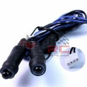 YEAH RACING, LK-0024BU ANGELEYE LED LIGHT CABLE 2PCS BLUE