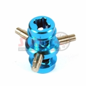 YEAH RACING, M05-069BU ALUMINIUM SOLID AXLE BLUE FOR TAMIYA M05/M06