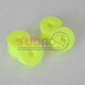 KYOSHO, MBH002KY WHEEL SET YELLOW INFERNO MP9 FLUORESENCE