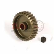 YEAH RACING, MG-48030 ALUMINIUM 7075 HARD COATED MOTOR GEAR PINION 48 PITCH 30T