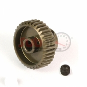 YEAH RACING, MG-64036 ALUMINIUM 7075 HARD COATED MOTOR GEAR PINIONS 64 PITCH 36 TEETH