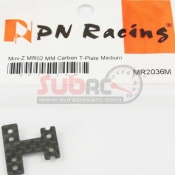 PN RACING, MR2036M MINI-Z MR02 MM CARBON T-PLATE MEDIUM