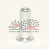 PN RACING, MR2064S FLANGED ALUMINIUM DISK DAMPER POST - SILVER