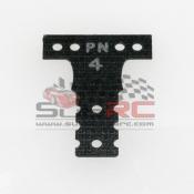 PN RACING, MR3044K MINI-Z MR03 MM G10 BLACK FIBER GLASS T-PLATE #4