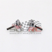 PN RACING, MR3050DS MINI-Z MR03 DOUBLE A-ARM KNUCKLE SILVER