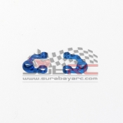 PN RACING, MR3050UB MINI-Z MR02/03 DOUBLE A-ARM UPPER ARM SET BLUE