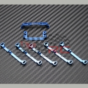 PN RACING, MR3060B A-ARM WIDE CONVERSION KIT BLUE