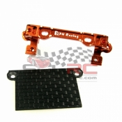 PN RACING, MR3062 MINI-Z MR02/03 V2 DOUBLE A ARM UPPER BRACKET ORANGE WITH MR03 LOWER CARBON COVER