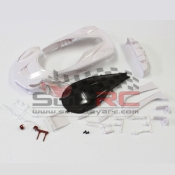 KYOSHO, MZN157 LA FERRARI WHITE BODY SET NON DECORATION