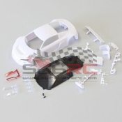 KYOSHO, MZN161 AUDI R8 LMS WITH NIGHT RACE CONFIGURATION WHITE BODY SET NON DECORATION