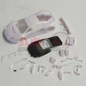 KYOSHO, MZN163 MCLAREN 12C GT3 2013 WHITE BODY SET NON DECORATION