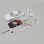 KYOSHO, MZN179 NISSAN 180SX WHITEBODY SET W/RIMS FOR AWD
