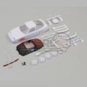 KYOSHO, MZN179 NISSAN 180SX WHITEBODY SET W/RIMS FOR AWD