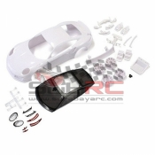 KYOSHO, MZN180 PORSCHE 911 GT3RS WHITE BODY SET W/ RIMS