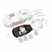 KYOSHO, MZN186 HONDA NSX WHITE BODY SET W/ WHEELS