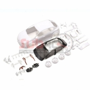 KYOSHO, MZN187 RENAULT MEGANE RS WHITE BODY SET W/RIM FOR FWD