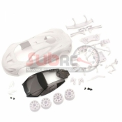 KYOSHO, MZN190 MCLAREN P1 GTR WHITEBODY SET W/RIM FOR RWD