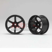 YOKOMO, RP-6213B8 RP DRIFT WHEEL 6 SPOKE OFFSET 8MM BLACK