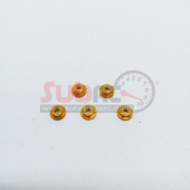 SUBRC, SBRC-A001G M2 FLANGED LOCKNUT WITH NYLON GOLD FOR AWD