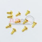 SBRC-S006 12.9 GRADE GOLDEN PLATE STEEL BUTTON HEAD MACHINE SCREW 2X4MM 10PCS