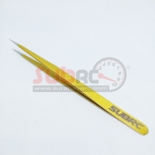 SUBRC, SBRC-TL004G STAINLESS STEEL HIGH PRECISSION STRAIGHT TWEEZER GOLD